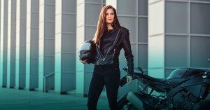 woman driving a bike